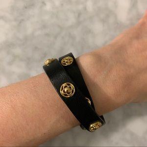 Stella & Dot leather bracelet